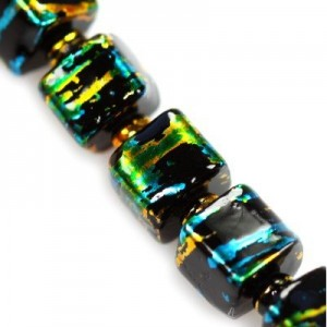 Cosmic Cube Black w Gold 6mm ~100τεμ