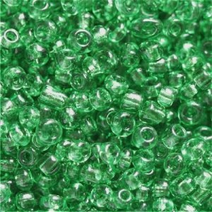 Χάντρα Seed Beads 11/0 - Clear Dark Green - 20gr