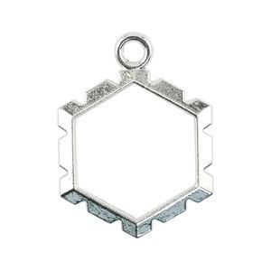 Artistic Wire Wrapper - Hexagon Silver Plated Color Εσωτ.14.4x15.8mm - 5τεμ