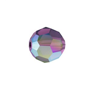 Swarovski 5000 Faceted Round Amethyst AB 4mm - 10τεμ