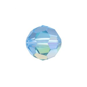 Swarovski 5000 Faceted Round Aquamarine AB 6mm - 10τεμ