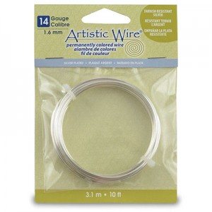 Σύρμα Artistic Wire - Ø1.6mm - Επάργυρο Non Tarnish - 3.1m