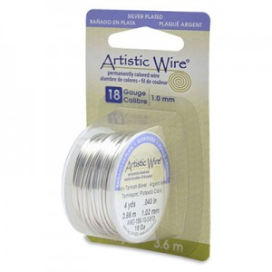 Σύρμα Artistic Wire - Ø1.02mm - Επάργυρο Tarnish Resistant Silver - 3.6m