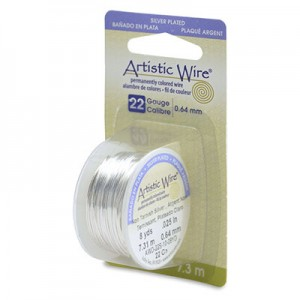 Σύρμα Artistic Wire - Ø0.64mm - Επάργυρο Tarnish Resistant Silver - 7.3m