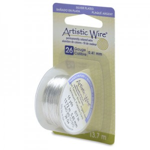 Σύρμα Artistic Wire - Ø0.40mm - Επάργυρο Tarnish Resistant Silver ~13.7m