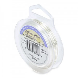 Σύρμα Artistic Wire - Ø0.64mm - Επάργυρο Tarnish Resistant Silver - 9.14m