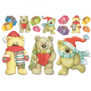 Ριζόχαρτο Stamperia - Bears with Heart - 48x33cm