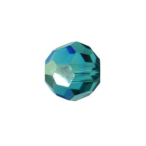 Swarovski 5000 Faceted Round Blue Zircon AB 6mm - 10τεμ