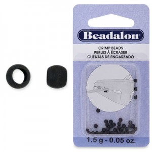Στοπάκια Beadalon Crimp Beads Black Size#2 ~45τεμ