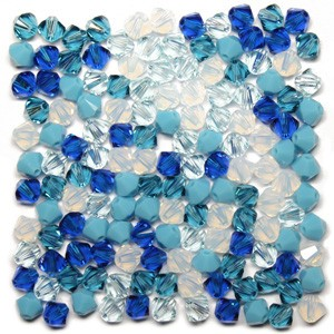 Swarovski 5328 XILION Bicone Blue Ice Tones Mix 4mm - 30τεμ