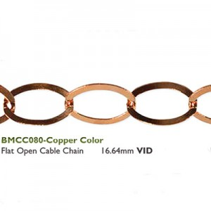 Αλυσίδα Flat Open Cable 16.64mm Copper~50cm