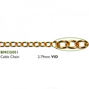 Αλυσίδα Cable 2.79mm Gold Plated ~0.5m