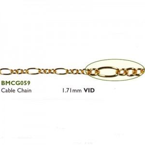 Αλυσίδα Cable 1.71mm Gold Plated ~ 0.5m