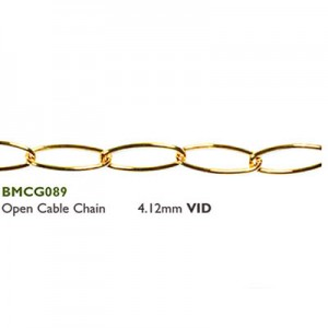 Αλυσίδα Open Cable 4.12mm Gold Plated ~ 0.5m