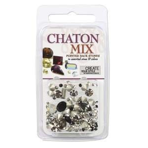 Swarovski Chaton Mix - Black ~4gr
