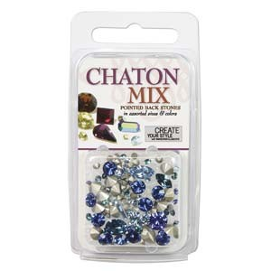 Swarovski Chaton Mix - Blues ~4gr