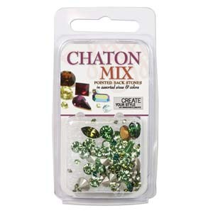 Swarovski Chaton Mix - Greens ~4gr