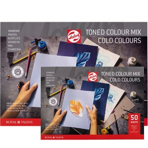 Μπλοκ Talens Cold Colours Mix Toned Papers - 180gr/m² - 50 Φύλλα