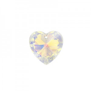 Swarovski Xilion Heart 10.3x10mm Crystal AB 6228 - 6τεμ