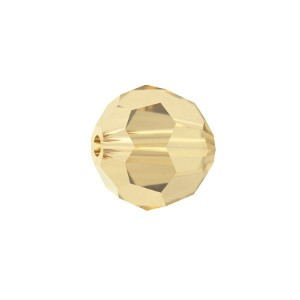 Swarovski 5000 Faceted Round Crystal Golden Shadow 4mm - 10τεμ