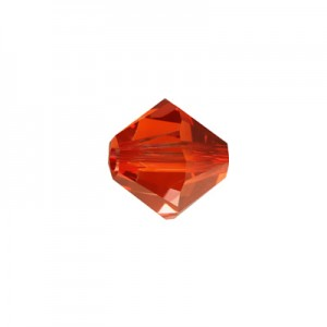 Swarovski 5328(001) XILION Bicone Crystal Red Magma 4mm - 30τεμ