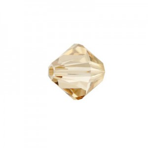 Swarovski 5328(001) XILION Bicone - Crystal Golden Shadow - 4mm - 30τεμ