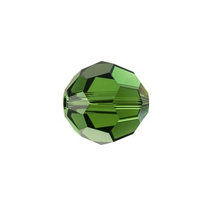 Swarovski 5000 Faceted Round Dark Moss 8mm - 6τεμ