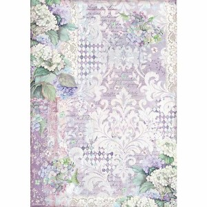 Stamperia Ριζόχαρτο για Decoupage - Hortensia Wallpaper - A3