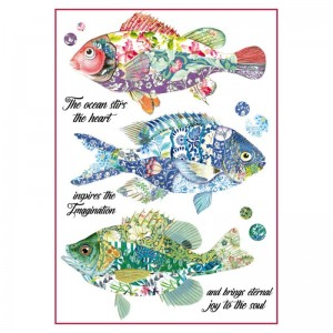 Stamperia Ριζόχαρτο για Decoupage - Fantasy Fishes - A4