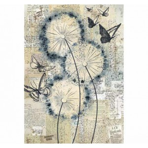 Stamperia Ριζόχαρτο για Decoupage - Blowing In The Wind - A4