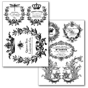 Χαρτί Stamperia Transfer Paper A4 - Queen Bee - 2 Σχέδια