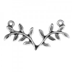Σύνδεσμος Nunn Design - Fern - 29x12mm - Antique Silver - 1τεμ