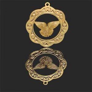 Διακοσμητικό 18K Forever Gold Dove of Peace Medallion 25mm - 1τεμ