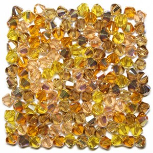 Swarovski 5328 XILION Bicone Flesh Tones AB Mix 4mm - 30τεμ