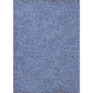 Φύλλo Polyester Felt - 50x70cm - Texture Dots On Blue Backgorund - 1mm - 1τεμ