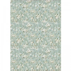 Stamperia Ριζόχαρτο για Decoupage - Jasmine On Light Blue Background - A4