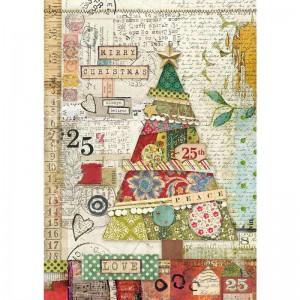 Stamperia Ριζόχαρτο για Decoupage - Patchwork Tree - A4