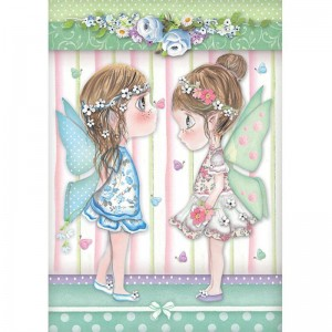 Stamperia Ριζόχαρτο για Decoupage - Fairies With Butterflies - A4
