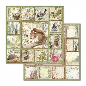 Χαρτί Scrapbooking Stamperia Διπλής Όψης - Forest Squirrel - 31x30cm