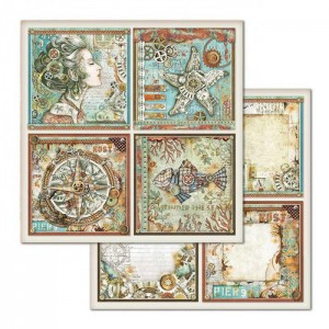 Χαρτί Scrapbooking Stamperia Διπλής Όψης - Sea World Frames- 31x30cm