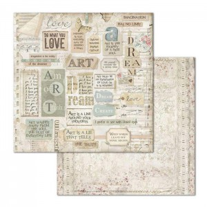 Χαρτί Scrapbooking Stamperia Διπλής Όψης - Dreams Writings - 31x30cm