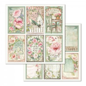 Χαρτί Scrapbooking Stamperia Διπλής Όψης - Frames House of Roses - 31x30cm
