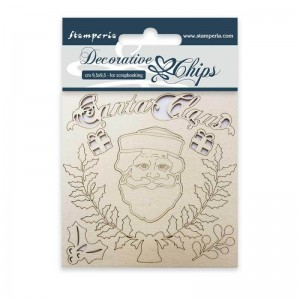 Διακοσμητικά Chipboard Stamperia - Santa Claus 9.5x9.5cm - 1τεμ