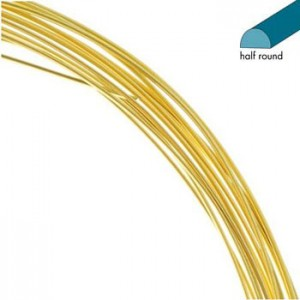 Σύρμα Half Round - Gold Color Non Tarnish - 0.72mm - 3.7m