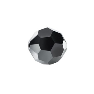 Swarovski 5000 Faceted Round Jet Hematite 8mm - 6τεμ