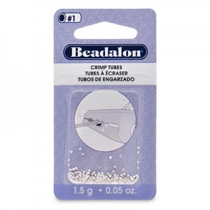 Στοπάκια Beadalon Crimp Tubes Silver Plated Size#1 ~160τεμ