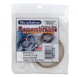 Memory Wire Remembrance Round Μπρασελέ - Harvest Gold Color ~49στροφές