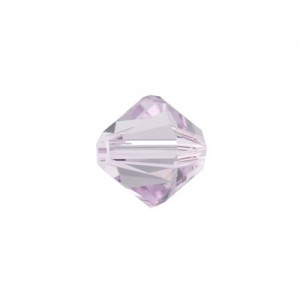 Swarovski 5328 XILION Bicone Light Amethyst 8mm - 9τεμ