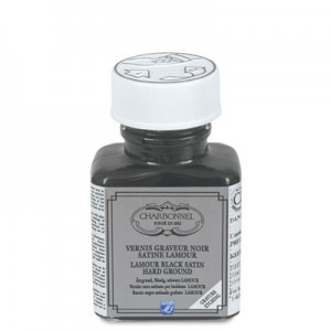 Charbonnel Vernis Lamour Black Satin Hard Ground - 75ml