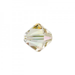 Swarovski 5328(001) XILION Bicone -Crystal Luminous Green- 4mm - 30τεμ